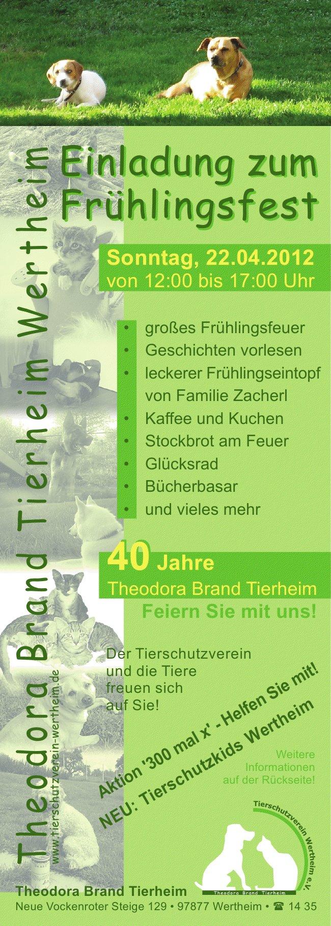 Frühlingsfest am 22. April 2012