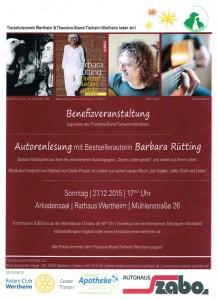 Lesung mit Barbara Rütting am 27.12.15
